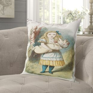 Alice And The Pig - Alice In Wonderland - Lewis Carroll Cushion Image