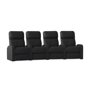Tufted Home Theater Row Seating (Row Of 4) by Latitude Run Wonderful