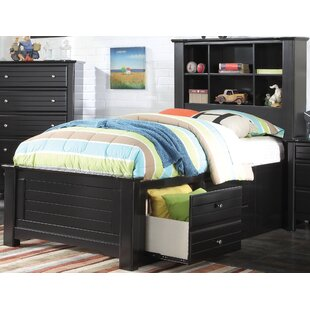 Chicago Platform Bed with Bookcase and Storage Drawer