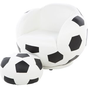 Soccer Ball Kids Novelty Chair and Ottoman by Wildon Home ?