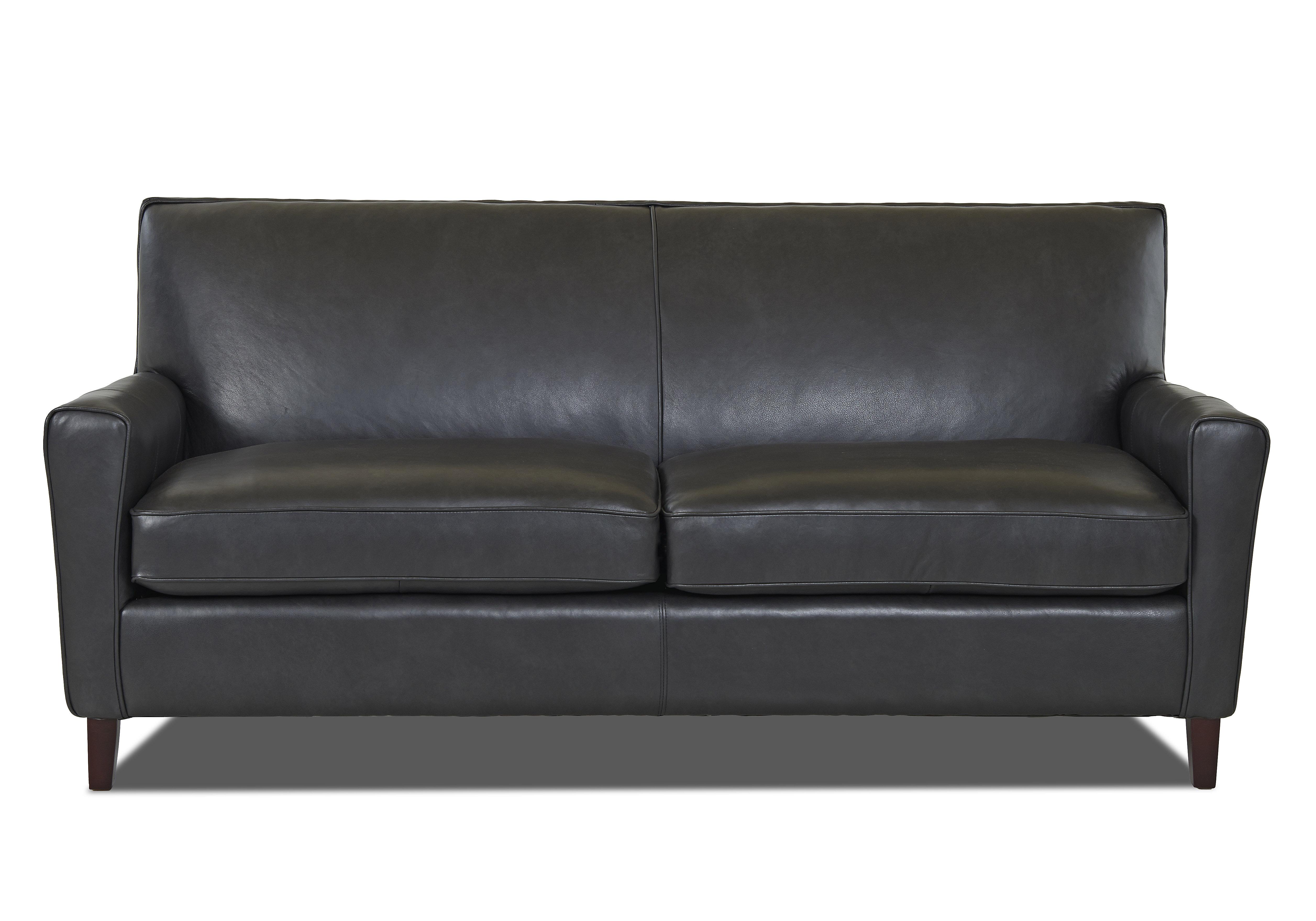 Beautiful Wayfair Custom Upholstery™ Grayson Leather Sofa & Reviews | Wayfair LB71