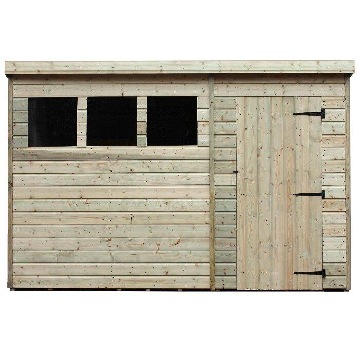 Garden Sheds 5 X 10 empire sheds ltd 10 x 5 wooden garden shed & reviews | wayfair.co.uk