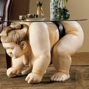 Basho the Sumo Wrestler Sculpture End Tab..