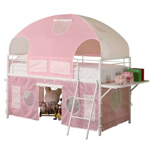 Victoria Twin Low Loft Bed by Zoomie Kids