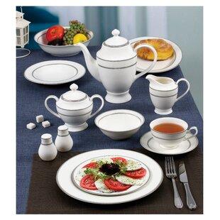 New Bone 55 Piece China Dinnerware Set Service for 8