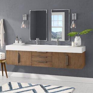 mid century modern bathroom vanity. Hukill 72\ Mid Century Modern Bathroom Vanity