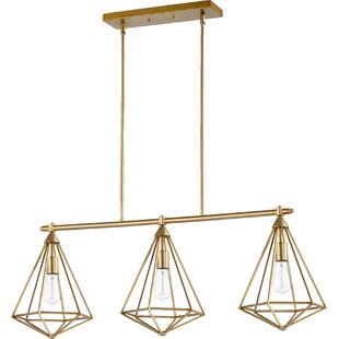 Everly Quinn Calne 3-Light Kitchen Island Pendant