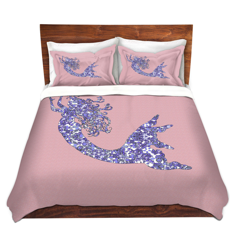Zoomie Kids Horncastle Susie Kunzelman Mermaid Rose Quartz Microfiber Duvet Covers Wayfair