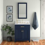 Minnetrista 30 Single Bathroom Vanity Set with Mirror by Andover Mills™