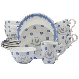 Fullerton 16 Piece Dinnerware Set, Service for 4