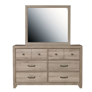 Kareem 6 Drawer Double Dresser with Mirror by Isabelle amp Max