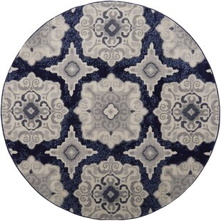 Caffey Navy Blue Area Rug by Andover Mills