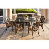 Thompson Traditional 9 Piece Dining Set with Cushions