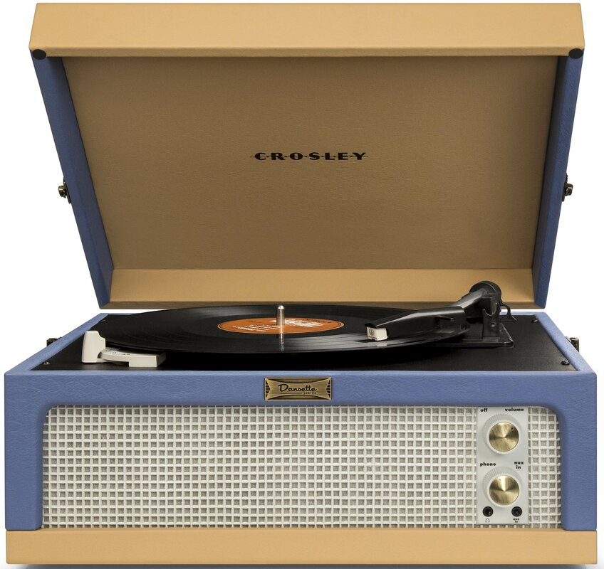 Dansette Junior Portable Record Player. Shop Drew's Honeymoon House! {Craft Room: Resource Guide & Sources}