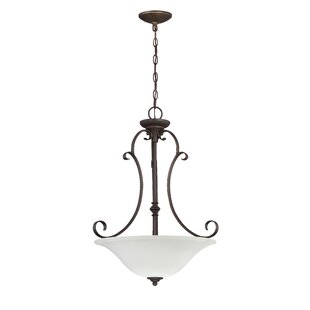 Fleur De Lis Living Chalfont 3-Light Bowl Inverted Pendant