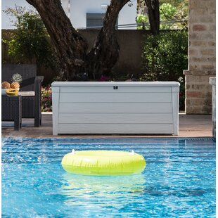 Brightwood Pool 120 Gallon Plastic Deck Box