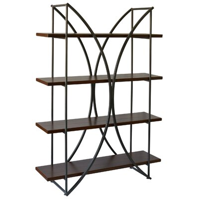Harper Eliptical 4 Shelf Etagere Bookcase by Brayden Studio