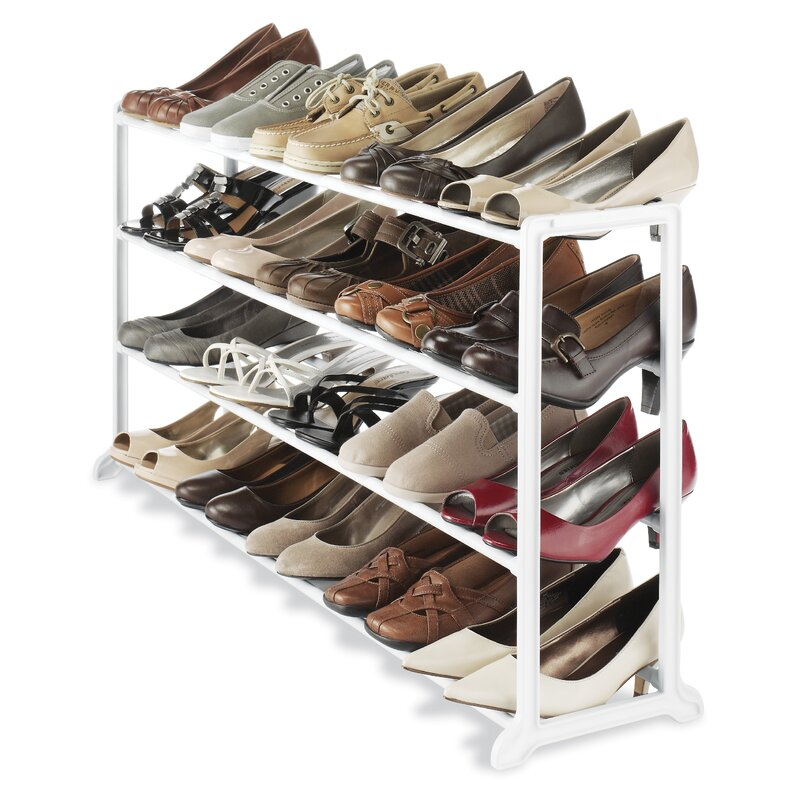 Floor 4-Tier 20 Pair Shoe Rack