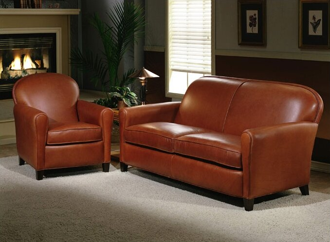 Omnia Leather Buenos Aires Leather Configurable Living Room Set ...