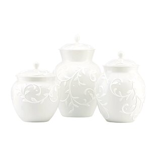 Opal Innocence Carved 3 Piece Storage Jar Set