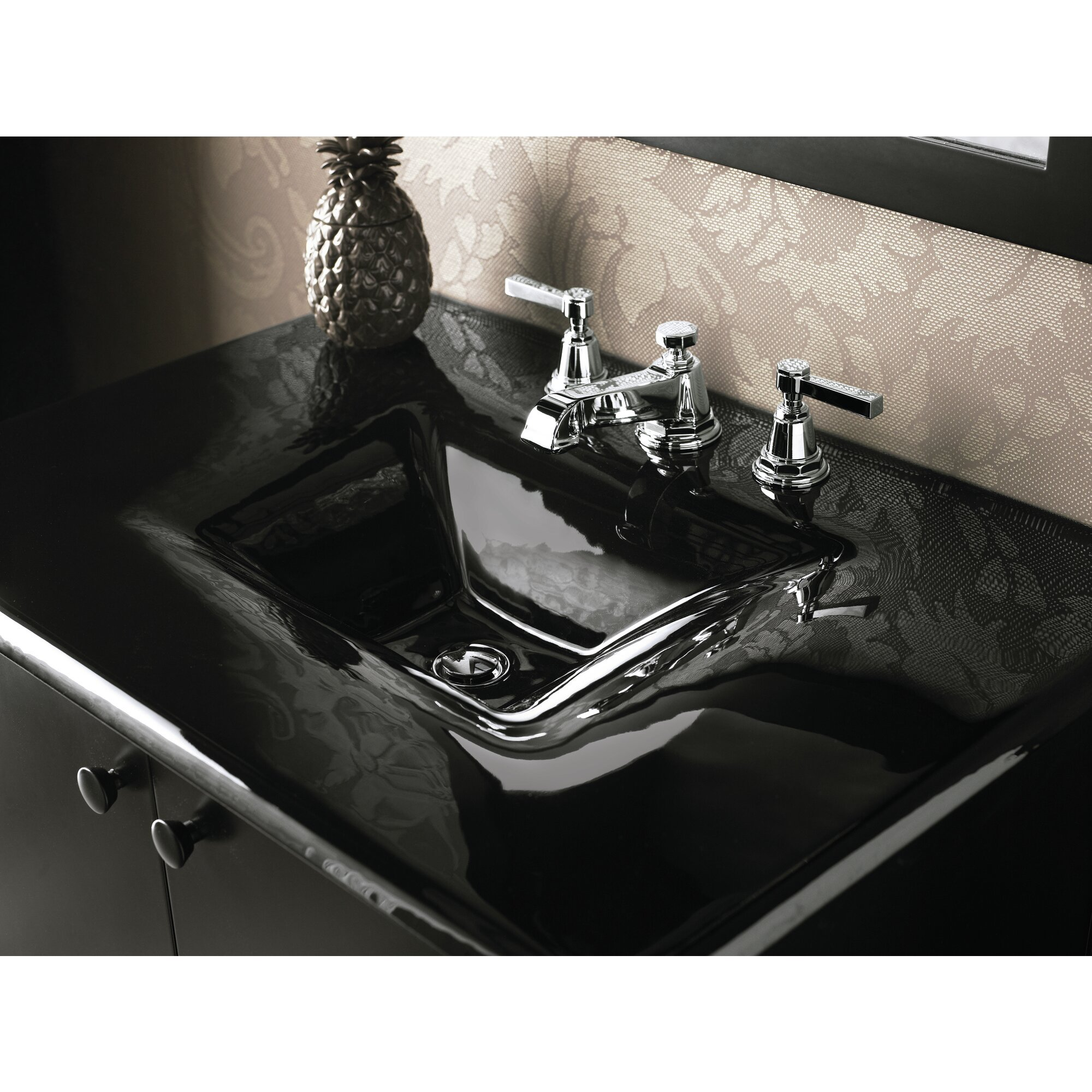 K 13132 4a Cp Kohler Pinstripe Widespread Bathroom Faucet With Drain Assembly Reviews Wayfair
