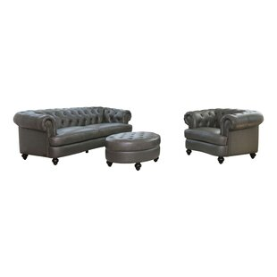 Look for Barnabas 3 Piece Leather Living Room Set by Darby Home Co Reviews (2019) & Buyer's Guide