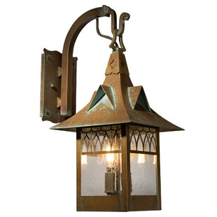 Reviews Wentzel 3-Light Outdoor Wall Lantern By Millwood Pines