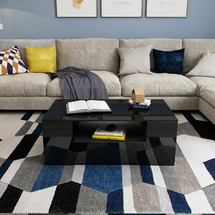Nagata Solid Coffee Table with Storage