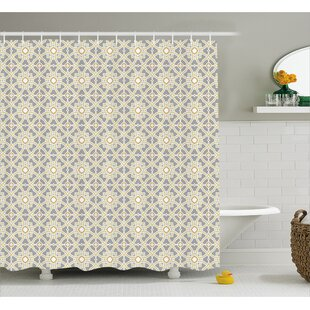Evergreen Moroccan Floral Art Shower Curtain + Hooks