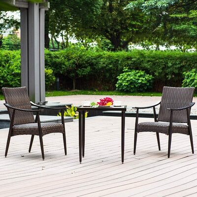 Frizzell 3 Piece Bistro Set (Set Of 3) by Corrigan Studio Top Reviews