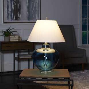 Sammie Large Round Glass Table Lamp
