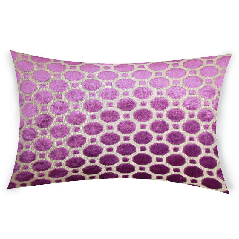 Ebern Designs Ogata Velvet Geometric Lumbar Pillow Reviews Wayfair Ca