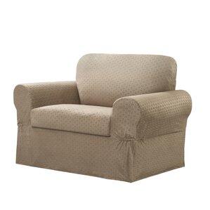 Amazing Box Cushion Armchair Slipcover Set