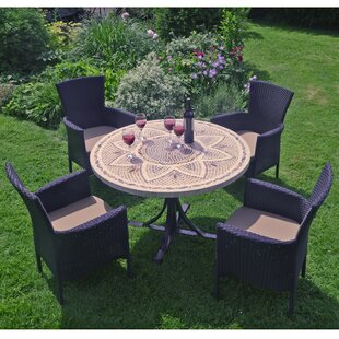 Lia 4 Seater Dining Set With Cushion By Sol 72 Outdoor