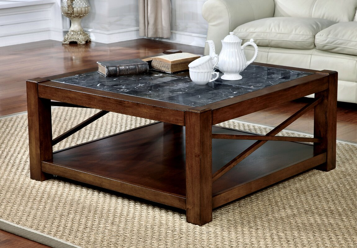 Transitional coffee table - Brandenburg Transitional Square Coffee Table