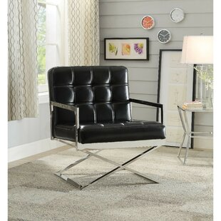 Shivers High Backrest Polyurethane Upholstered Metal Armchair