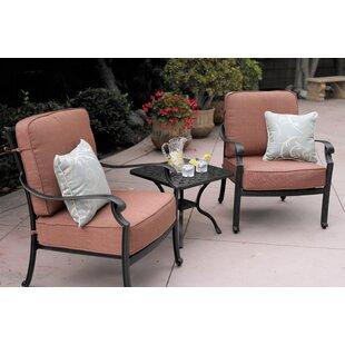 Astoria Grand Mccraney 3 Piece Conversation Set with Cushions