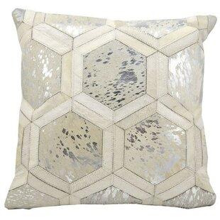 Priyanka Leather Throw Pillow