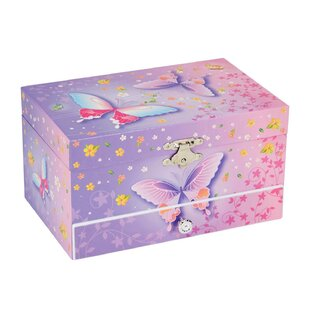 Price comparison Butterfly Musical Jewelry Box By Harriet Bee