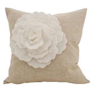 Keech Lotus Flower Statement Cotton Throw Pillow