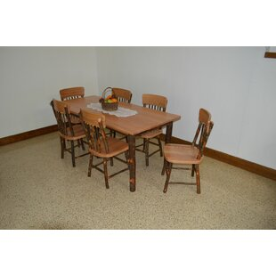 Wyton 7 Piece Solid Wood Dining Set Loon Peak