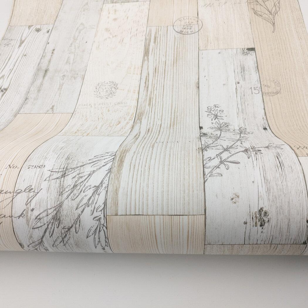 paloma wood panel pattern contact paper latina 98 l x 196 w distressed peel and stick wallpaper roll