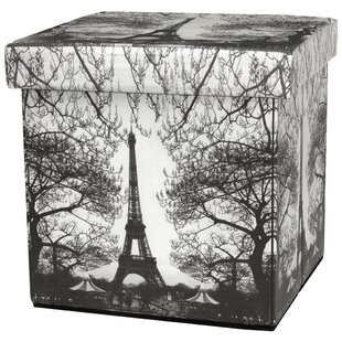 Saulsbury Eiffel Tower Storage Ottoman by Fleur De Lis Living
