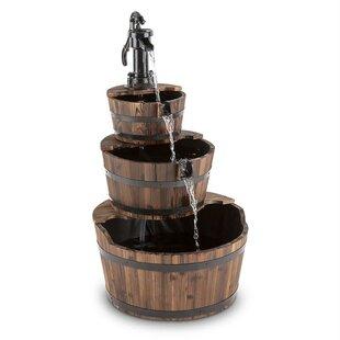 Cascada Wood And Metal Fountain Image