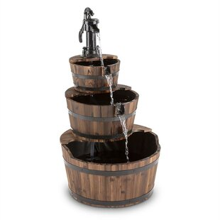 Check Price Cascada Wood And Metal Fountain