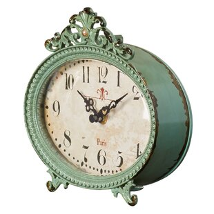 Retro teal mantel clock