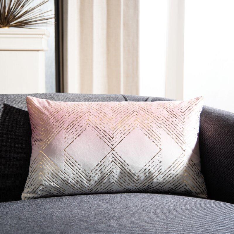 Mercer41 Hadriana Geometric Lumbar Pillow Reviews Wayfair