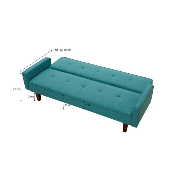 "Langer 75"" Wide Linen Square Arm Convertible Sofa"