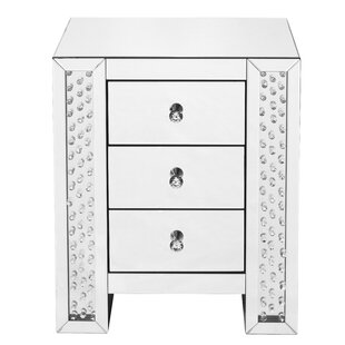 Check Prices Lasater Crystal 3 Drawer Nightstand by Rosdorf Park