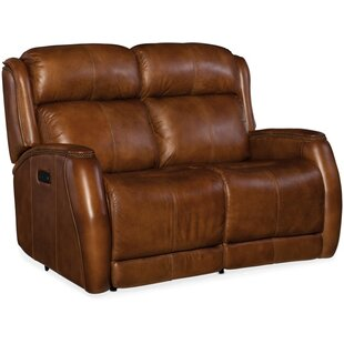 Emerson Leather Reclining Loveseat by Hoo..